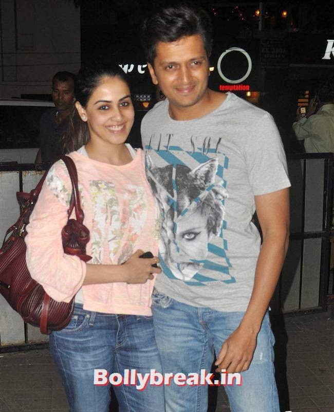 Genelia D'Souza and Ritesh Deshmukh, Bollywood Celebs at Jai Ho Special Screening