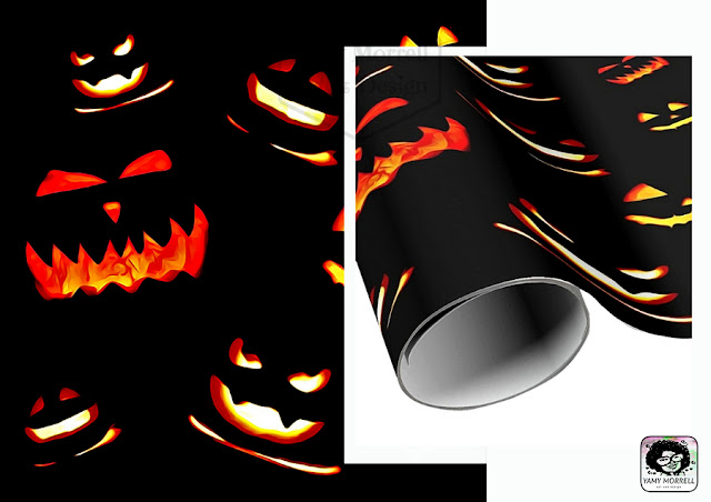Halloween-pattern-design-wrapping-paper-by-yamy-morrell