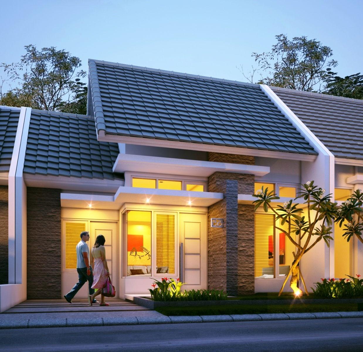 Gambar Desain Rumah Type 36 1 Lantai Elegan