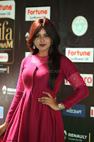 Monal Gajjar in Maroon Gown Stunning Cute Beauty at IIFA Utsavam Awards 2017 071.JPG