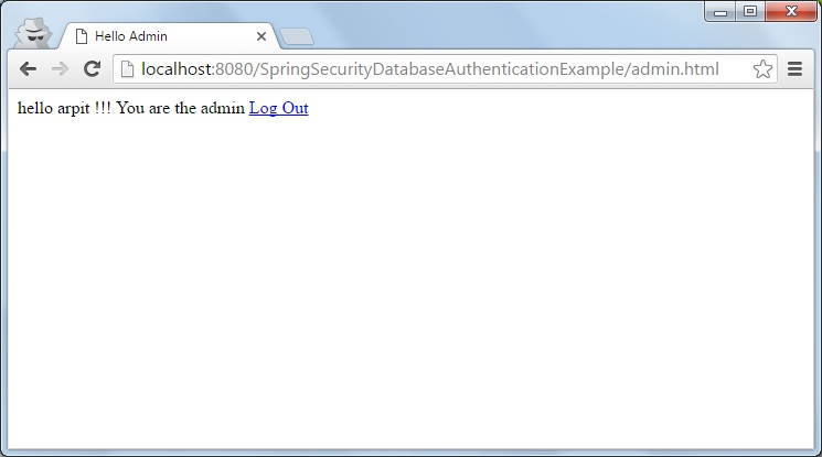 spring security database authentication example - Java2Blog