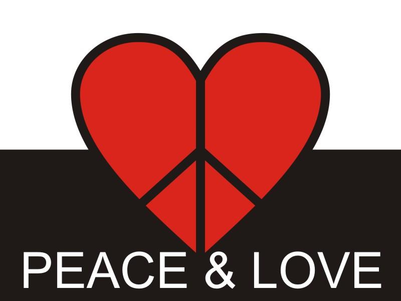Paz E Amor Desenho Digital Desenho Dg