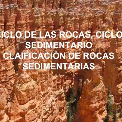 El ciclo de las rocas sedimentarias