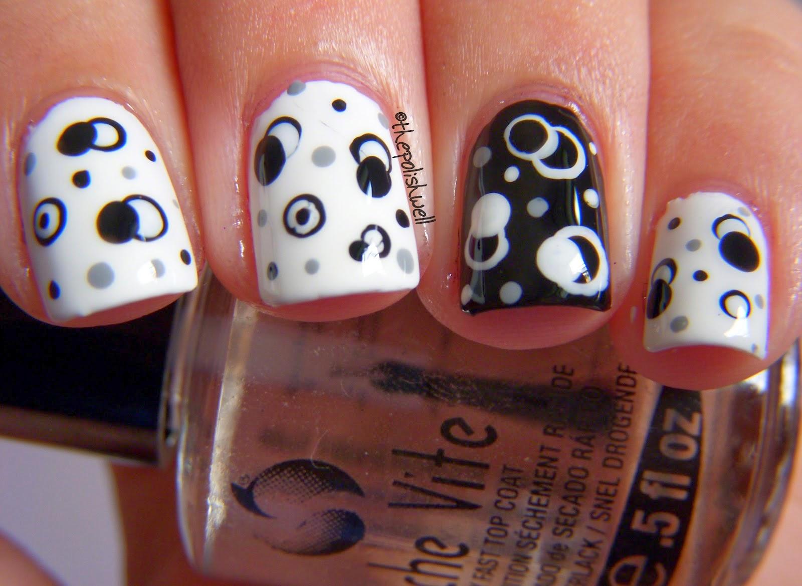diseño de uñas circulos