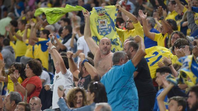 La afición de UD Las Palmas vibró en el Estadio de Gran Canaria
