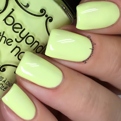 beyond the nail booming banana swatch soft neons