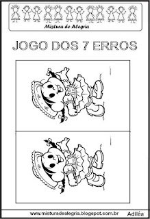 Festa junina jogo dos erros