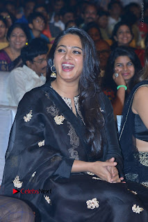 Actress Anushka Anushka Shetty Stills in Black Salwar Kameez at Om Namo Venkatesaya Audio Launch Event  0034.JPG