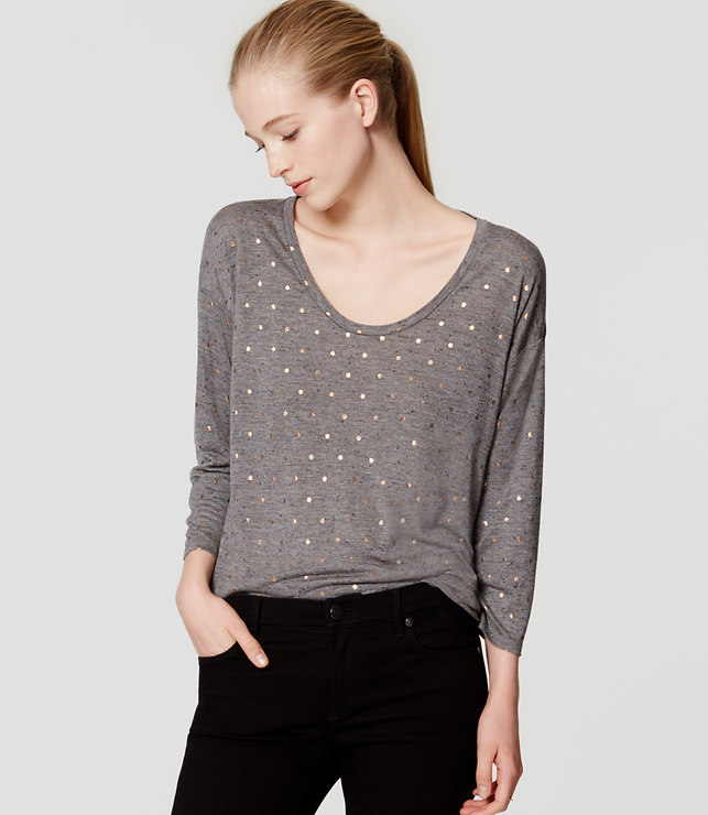 Loft Grey Dot shirt