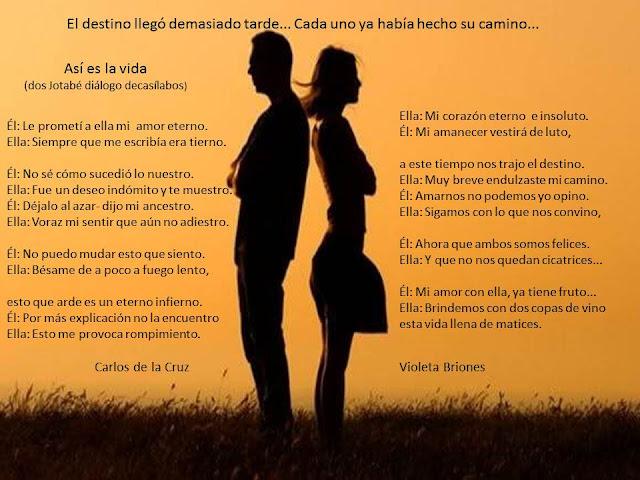 poema a dueto Así es la vida