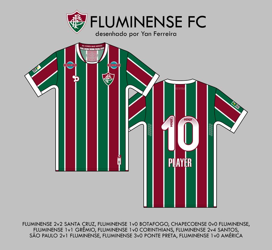 5e7d3a6456 Torcedor reproduz as camisas usadas pelo Fluminense no Brasileirão ...