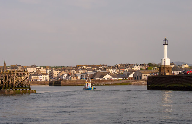 Photo of Maryport basking in sunshine on Monday
