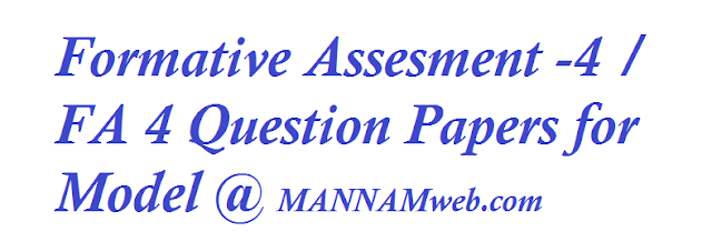 Formative Assesment  / FA  Question Papers for Model