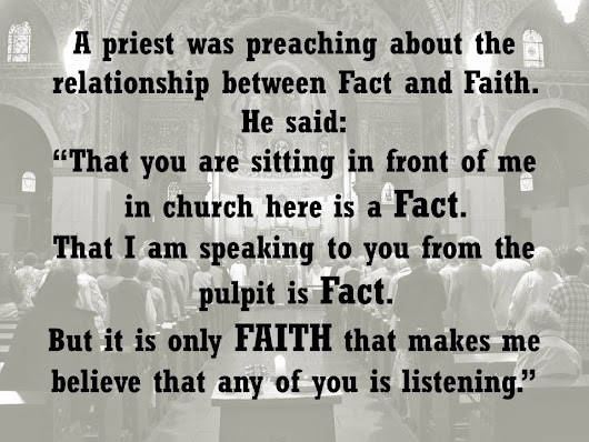 Fact Versus Faith
