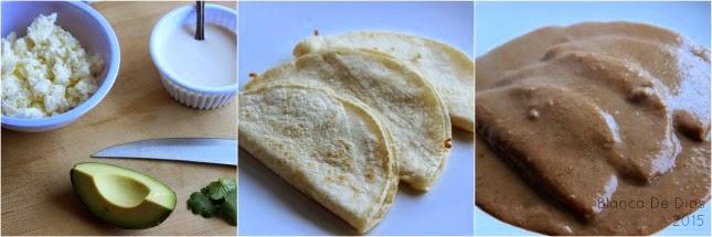 Receta sin carne: Enfrijoladas by www.unamexicanaenusa.com