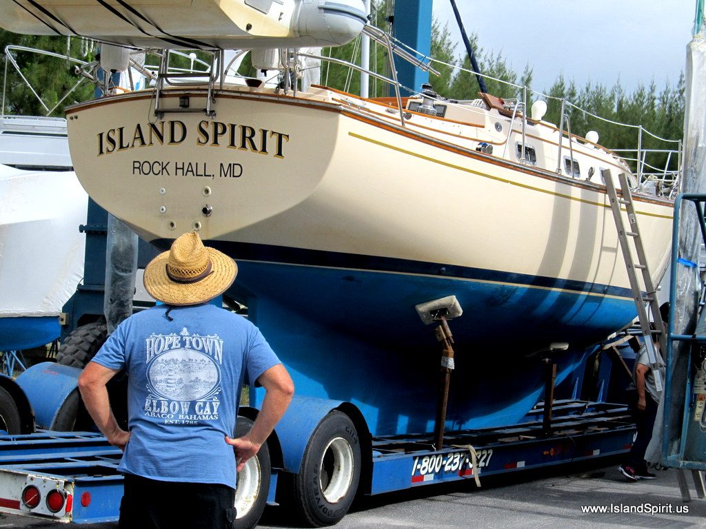 Trucking to Island Packet Yachts Refit Program