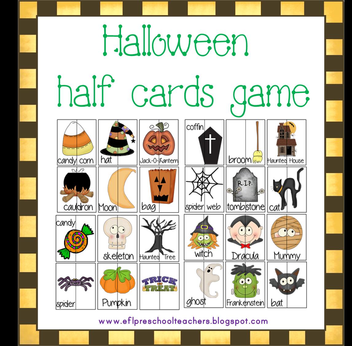 Esl Efl Preschool Teachers Halloween