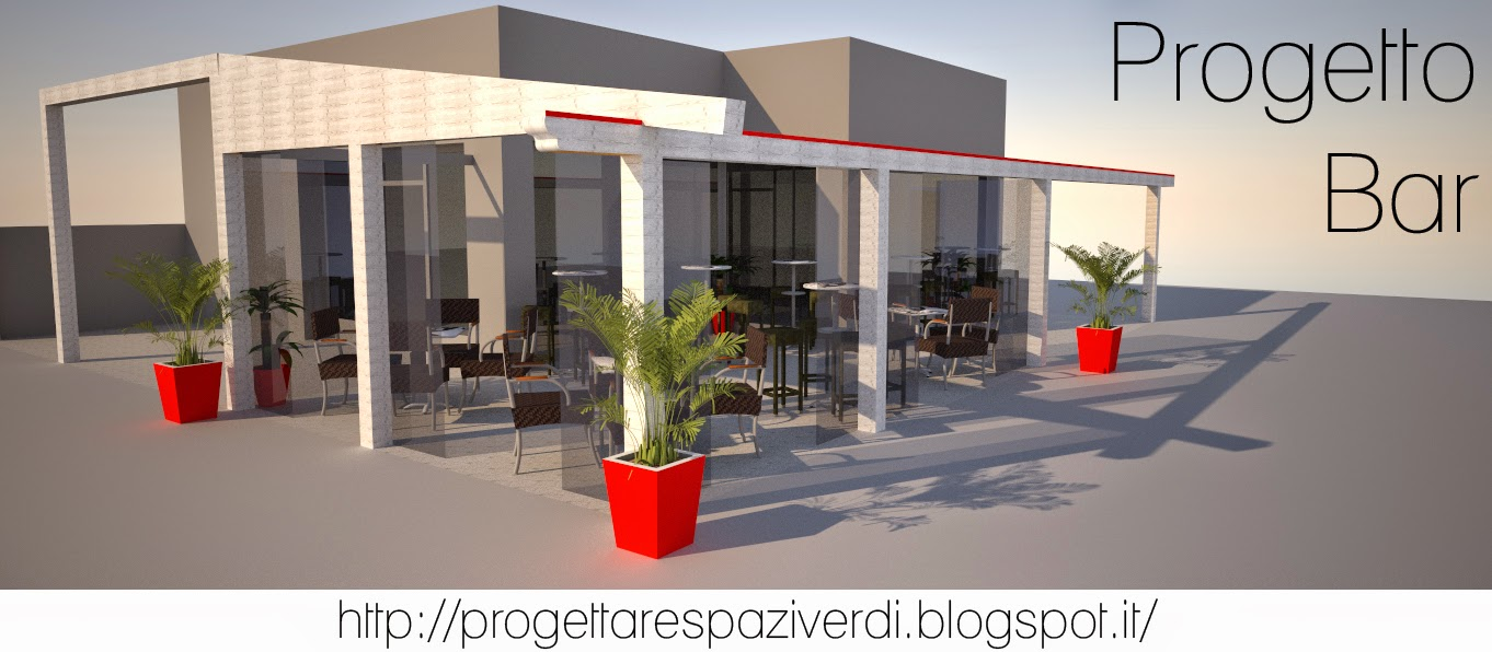 Progettare spazi verdi arredamento esterno per bar e for Interni e progetti