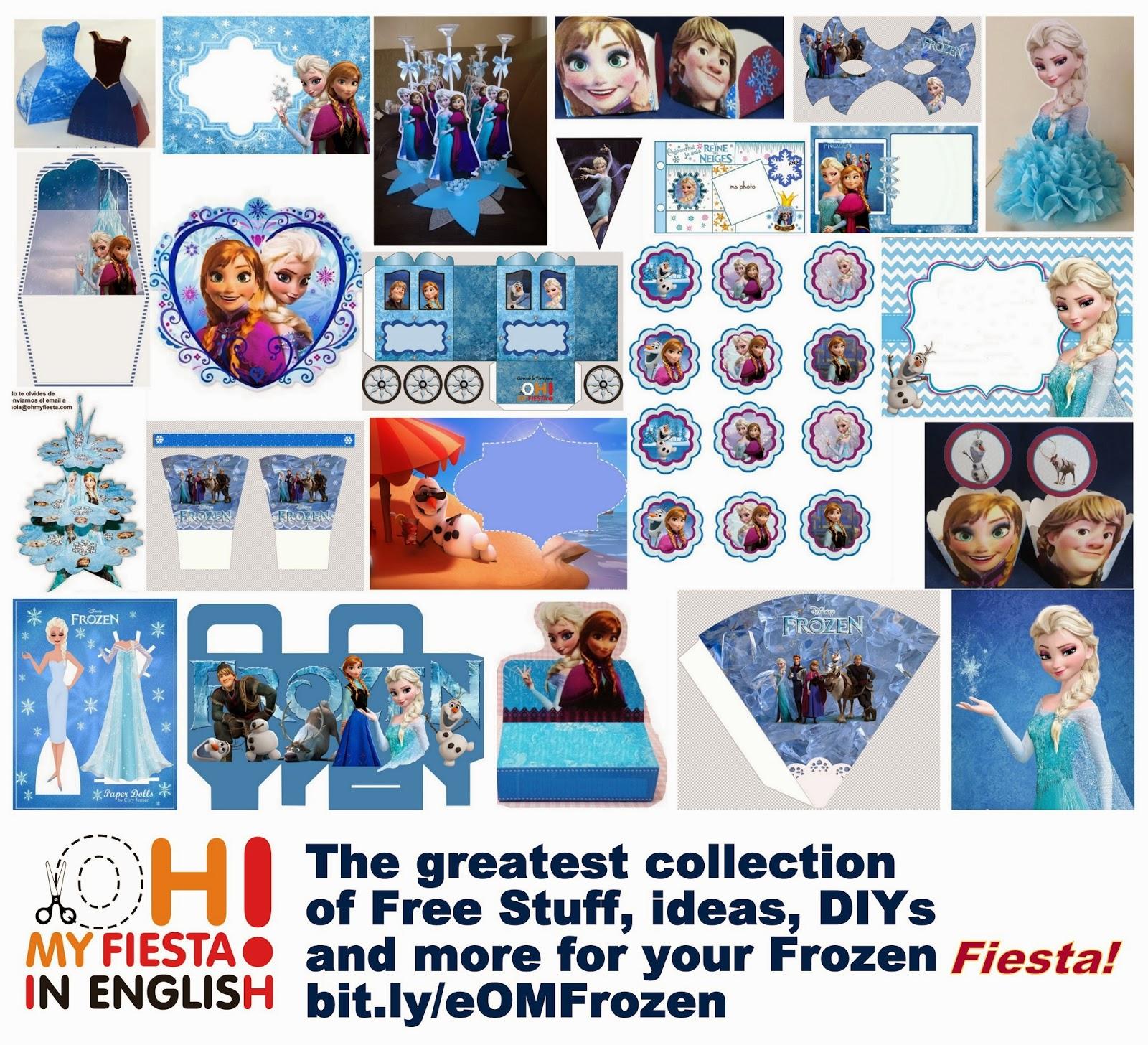 picture regarding Frozen Party Food Labels Free Printable named Free of charge Printable Frozen Labels. - Oh My Fiesta! within just english