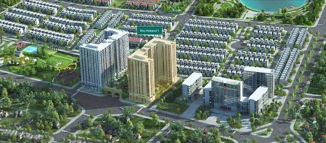 Phối cảnh quy hoạch chung cư Anland 2