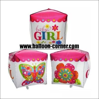 Balon Foil Kubus Baby Girl