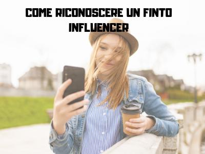Finto influencer