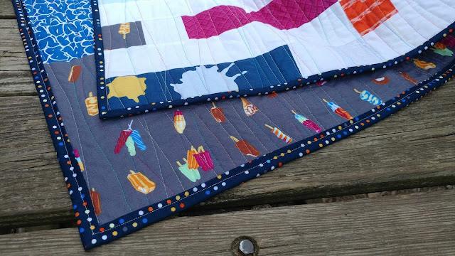 Dot 'n' Dash made from Piece and Quilt with Precuts with Double Dutch fabric