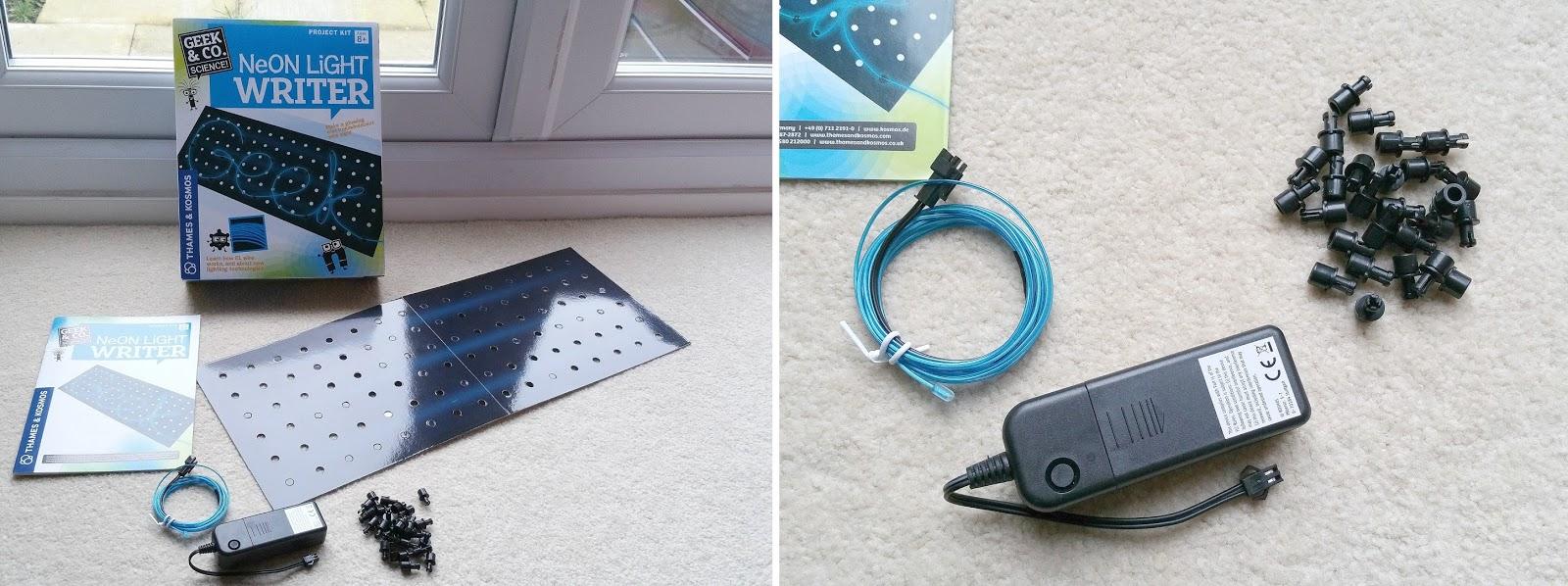 Thames and Kosmos STEM kits, Neon Light Writer, Slime Time