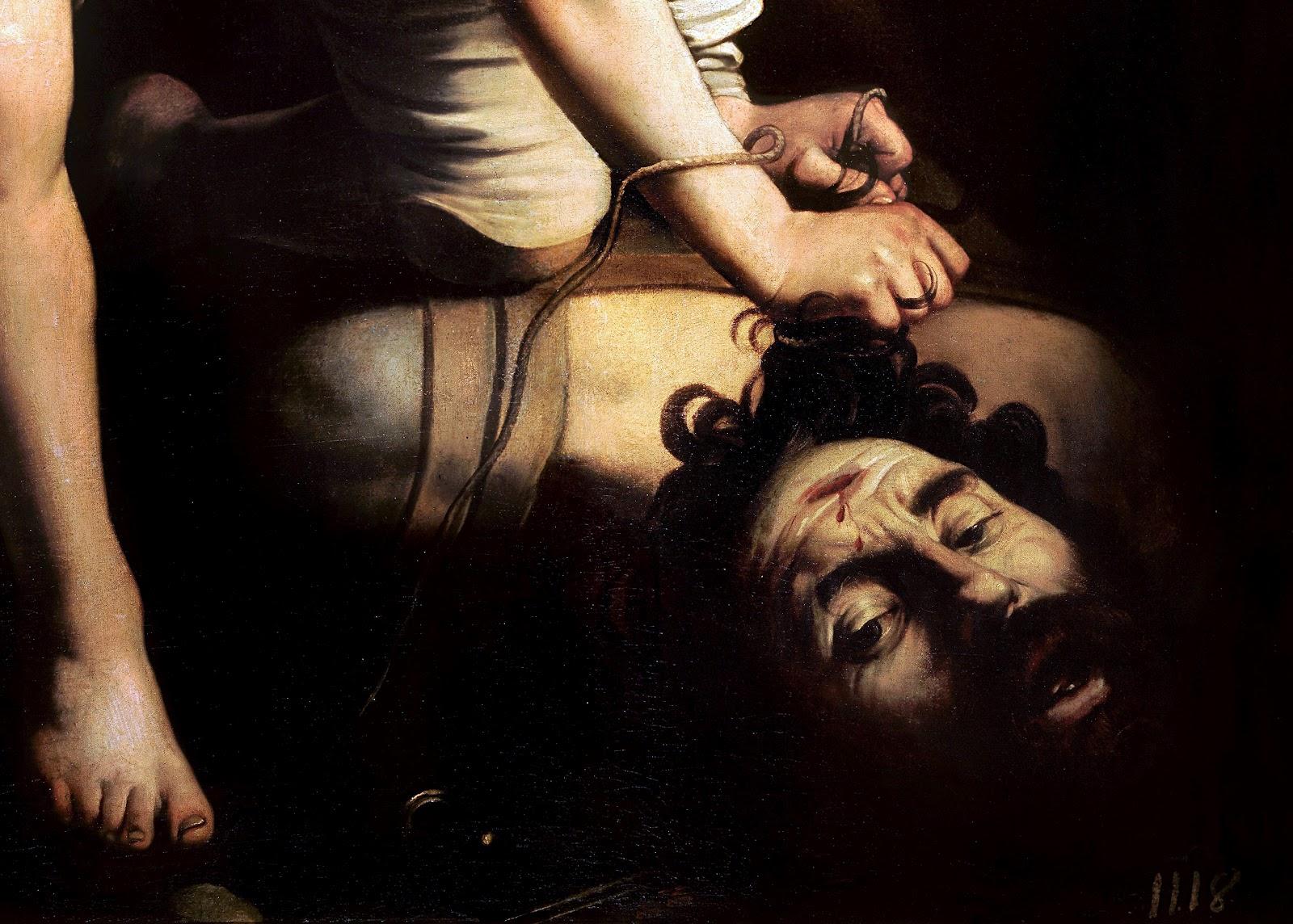 """Resultado de imagen para """"David vencedor de Goliat"""" de Caravaggio"""