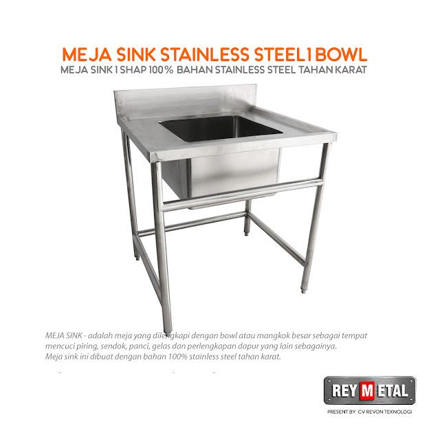 Jual Meja Cuci Piring Stainless Steel