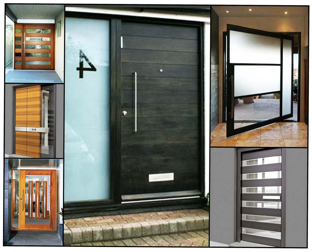 Inspirations For Modern Front Doors - Ellecrafts