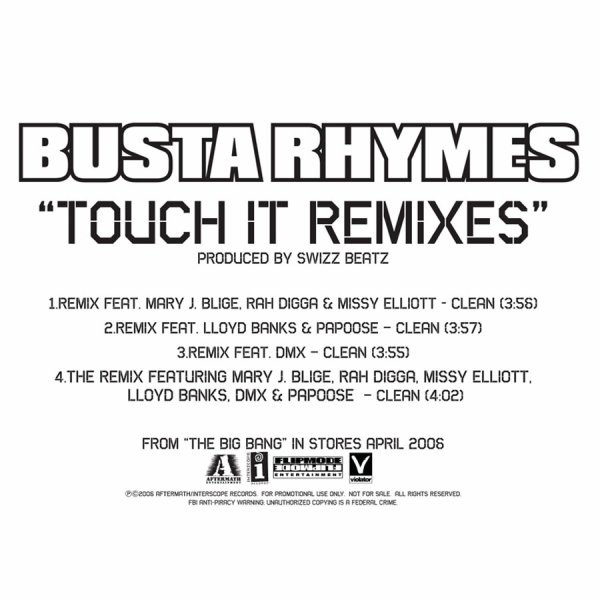 Busta Rhymes - Touch It Remixes (Explicit Version) - Single  Cover