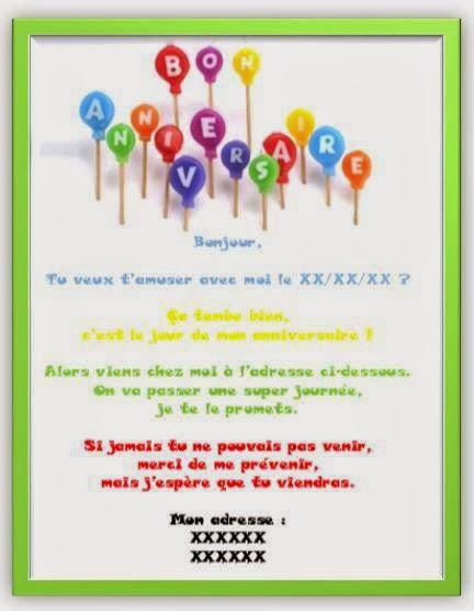 Bien-aimé Invitation carte anniversaire | 1001-carteanniversaire.fr RW53