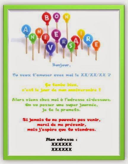 Invitation Carte Anniversaire 1001 Carteanniversaire Fr