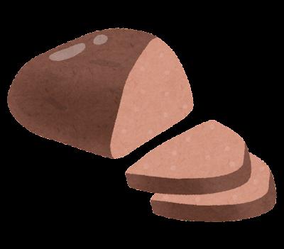 豚レバーの燻製のイラスト