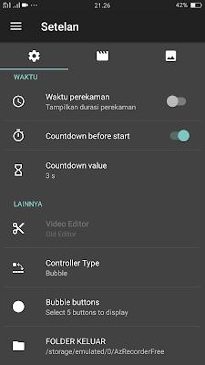 Aplikasi Untuk Merekam Layar (Screen Recorder) di Android (Video + Suara+Camera)