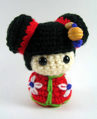 Amigurumi Kokeshi Doll PDF pattern Digital Download | Etsy | 400x328