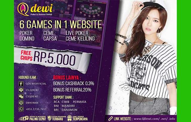 QDewi Agen Judi Live Poker Online Indonesia