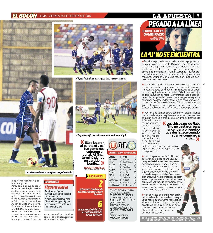 new arrival b31f9 0ed7c Universitario de Deportes empató 1-1 ante Real Garcilaso por el Torneo de  Verano