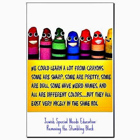 We could learn a lot about inclusion from a box of crayons, Removing the Stumbling Block