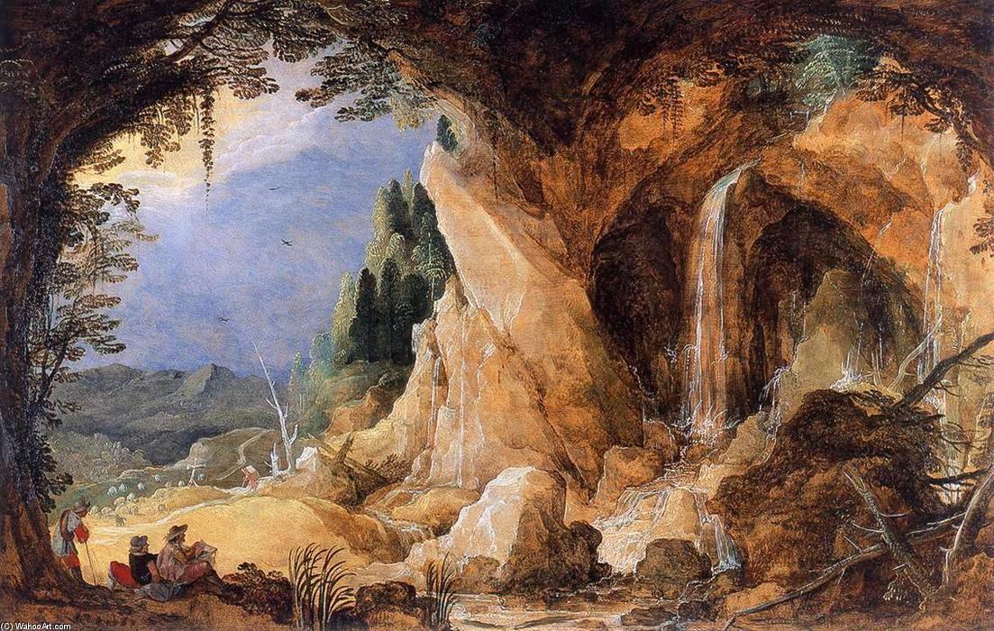 paesaggio con grotta