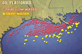 oil production in Gulf of Mexico
