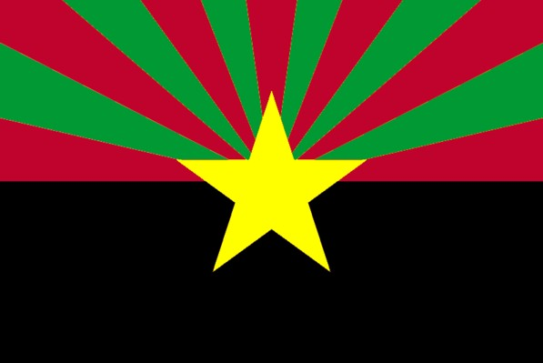 61472dd60a9 The African-American Arizona flag is based upon the African American Flag.