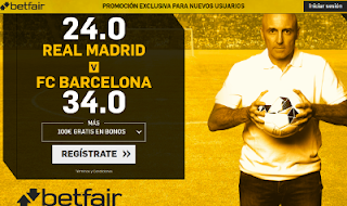 betfair supercuota Real Madrid o Barcelona 23 diciembre