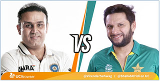 Asia Cup India vs Pakistan on Fire sehwag may fight with afridi in the us live chat