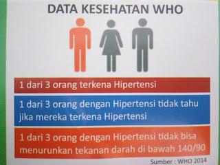 Data Pengidap Penyakit Hipertensi Menurut WHO