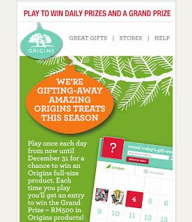 origins - CONTEST - ORIGINS Daily Gift-Away