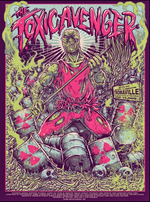The Toxic Avenger Screen Print by Godmachine