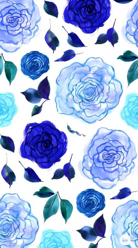 Blue White Flower Wallpaper Best Hd Wallpapers
