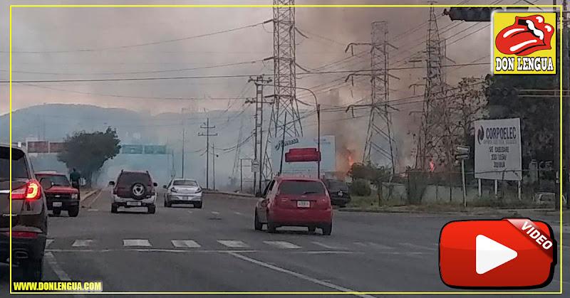 Se incendió la estación eléctrica de Corpoelec en Cabudare